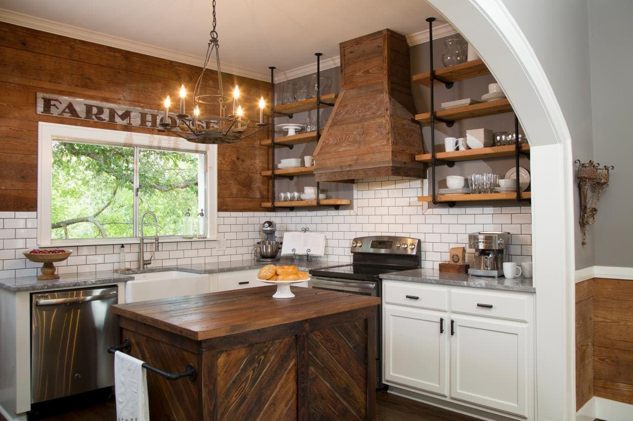 Where does fixer upper get kitchen cabinets - Fixer Upper Batson Kitchen