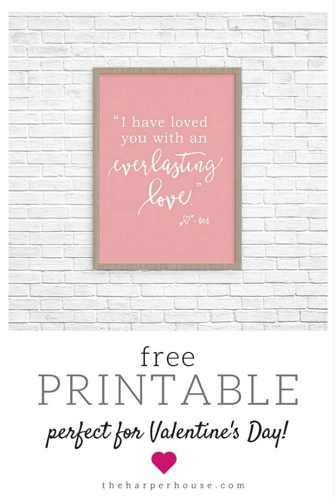 Free Valentine\'s Day Printable! | The Harper House