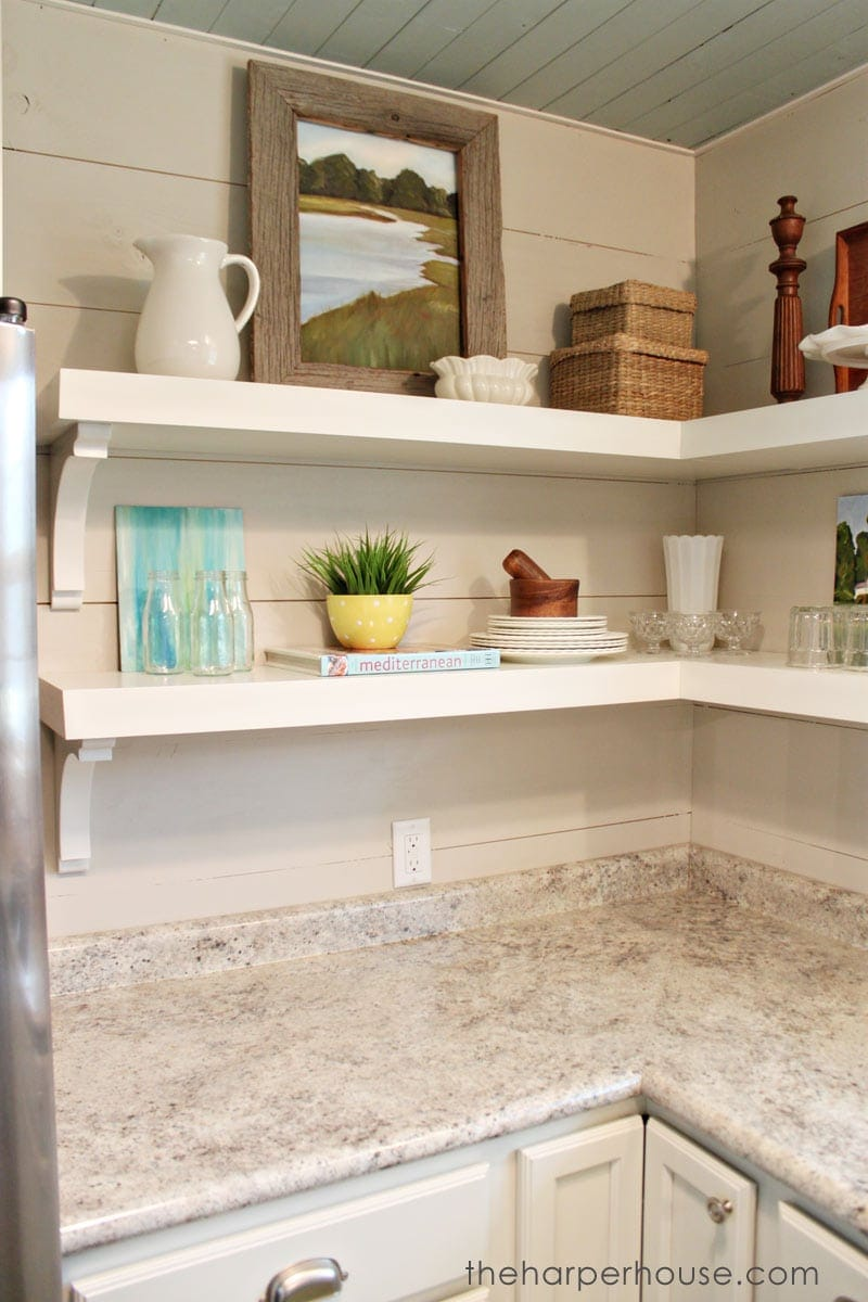 Open Shelf Kitchen How To Add Fixer Upper Style To Your Home Open Shelving The