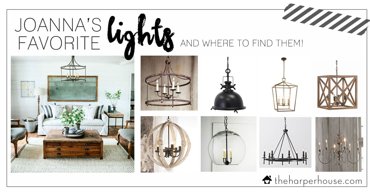 Joanna S Favorite Light Fixtures For Fixer Upper Style