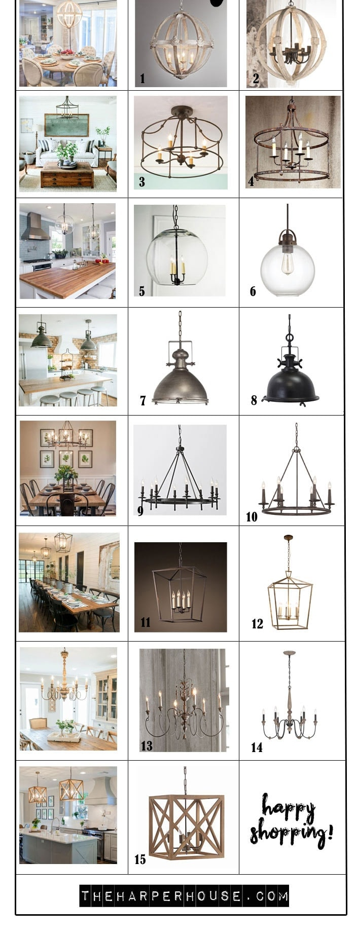Fixer Upper Lights : find the exact light fixtures used by Joanna Gaines on Fixer Upper | Fixer Upper Lighting #fixerupper #farmhouse #lighting