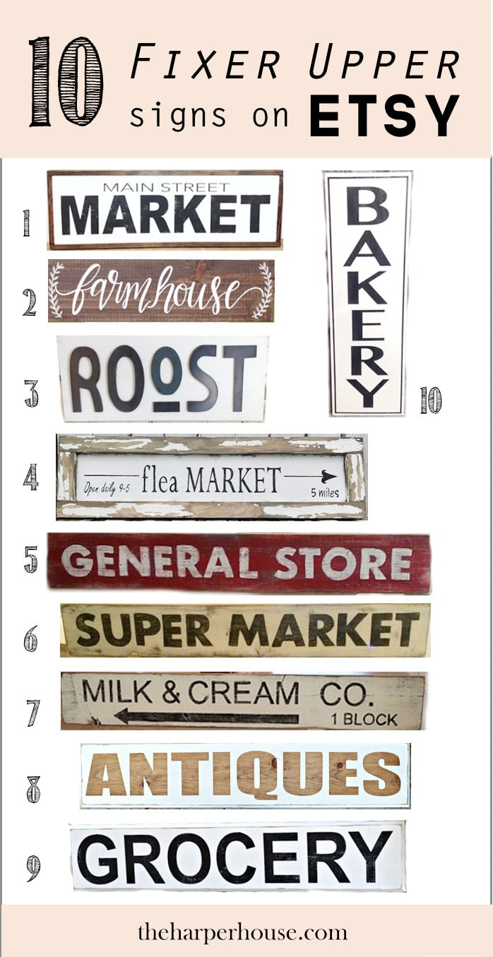 Fixer upper kitchen signs - F I X E R U P P E R Style Signs On Etsy Like Joanna Gaines Uses And Where To Find Them The