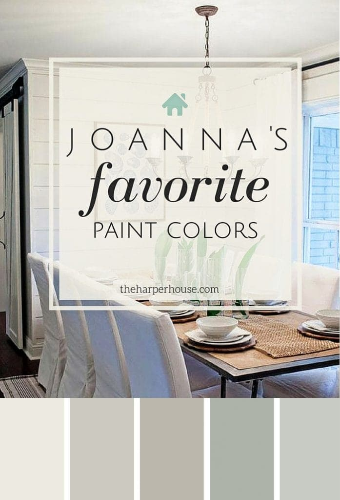 Joanna's five favorite Fixer Upper paint colors #fixer upper #paint | The Harper House