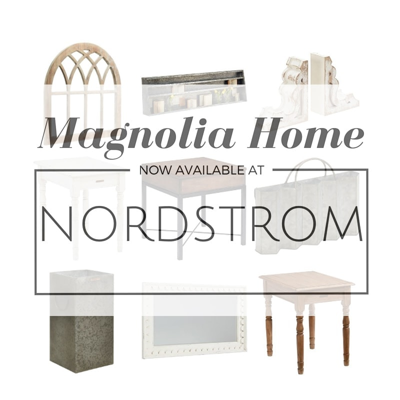 Joanna's new home decor and furnishing line, Magnolia Home is now available at Nordstrom!