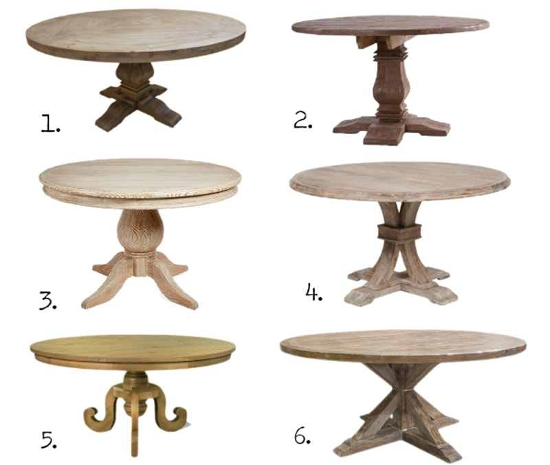 Round Dining Tables: 8 Affordable Options : The Harper House