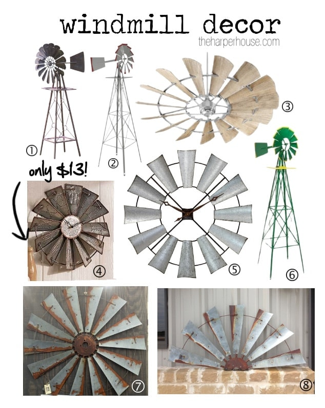 Fixer Upper Windmill Decor The Harper House