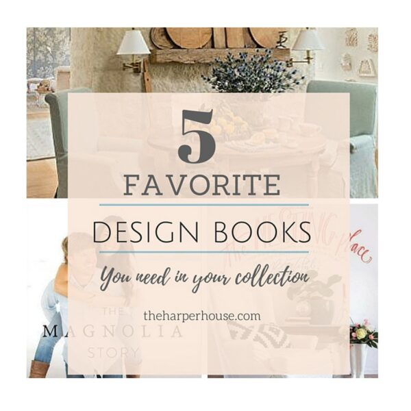 Do you need help decorating your home? The 5 favorite design books can help! theharperhouse.com