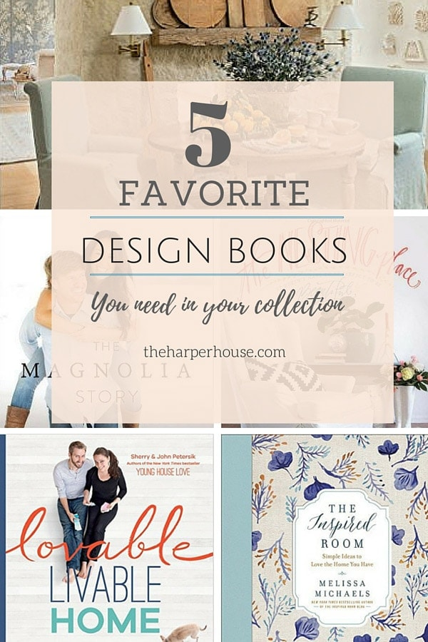 Do you need help decorating your home? The 5 favorite design books can help!