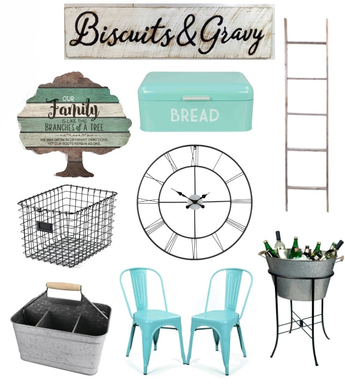 Find affordable farmhouse decor on Amazon! Shop in your jammies and have your favorite farmhouse decor items shipped to your door in 2 days! Can't beat that!