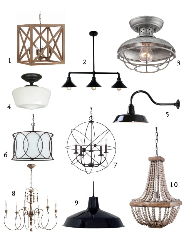 These farmhouse style light fixtures are so affordable and available at Amazon! www.theharperhouse.com