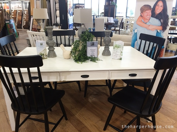 Magnolia Home Furniture Farmhouse Keeping Dining Table - find my real life review of Joanna's new furniture line on the blog! #fixerupper #magnoliahome www.theharperhouse.com