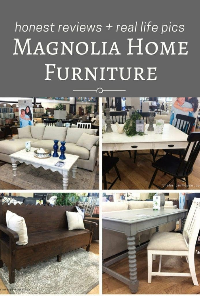 Magnolia Home Furniture - find my real life review of Joanna's new furniture line on the blog! #fixerupper #magnoliahome www.theharperhouse.com