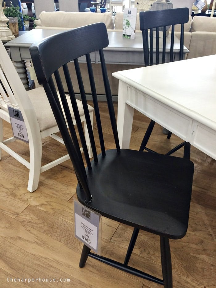 Magnolia Home Furniture Spindle Back Side Chair - find my real life review of Joanna's new furniture line on the blog! #fixerupper #magnoliahome www.theharperhouse.com