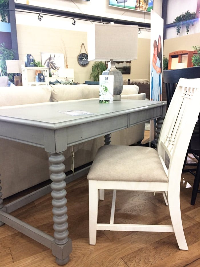 Magnolia Home Furniture Spool Leg Desk - find my real life review of Joanna's new furniture line on the blog! #fixerupper #magnoliahome www.theharperhouse.com