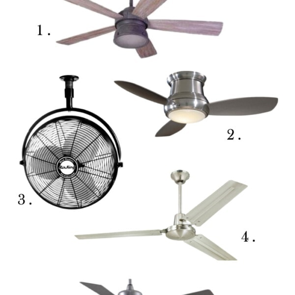 Farmhouse ceiling fans on Amazon!