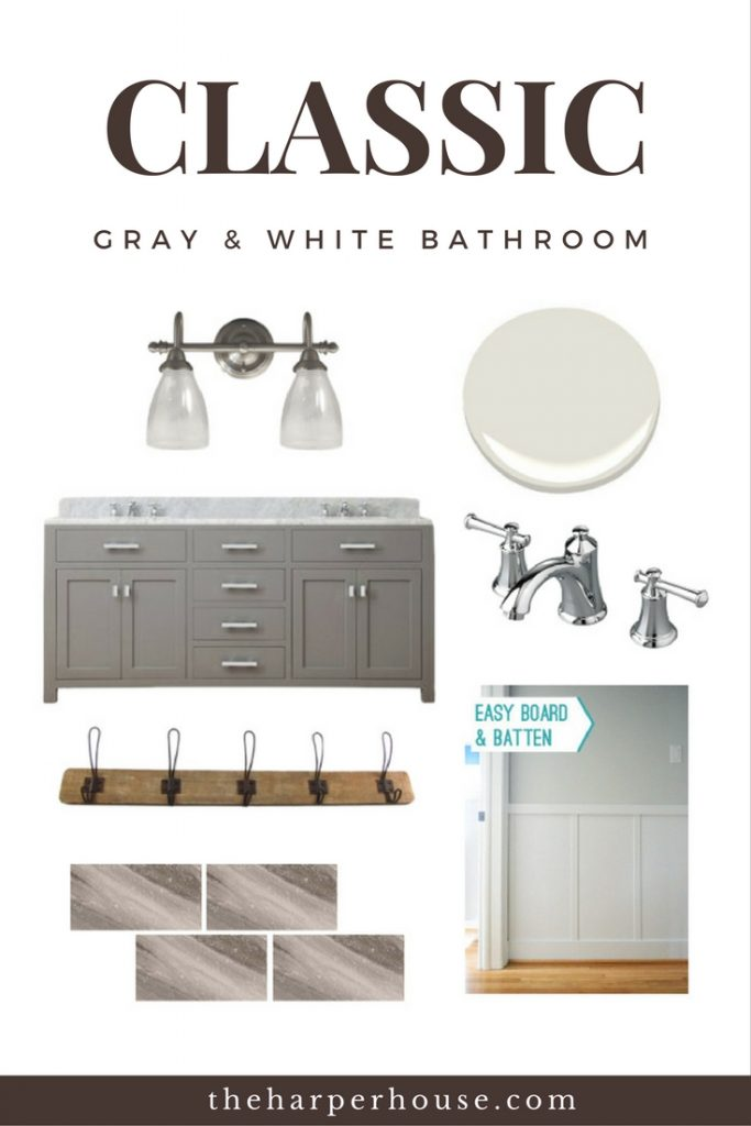 Gorgeous bathrooms don't have to cost a fortune! Sharing all the sources for our DIY bathroom remodel on the blog | www.theharperhouse.com