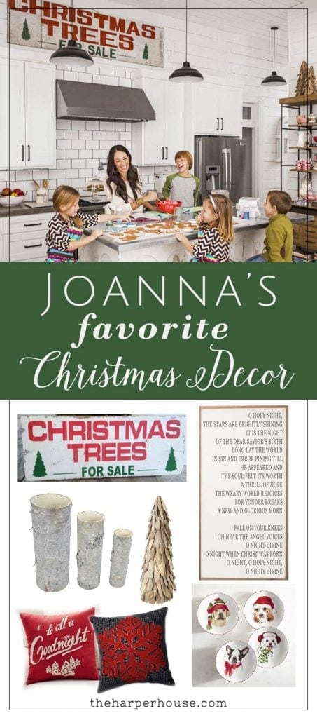Find out where to buy Joanna's favorite Fixer Upper Christmas decor to create this same warm farmhouse Christmas feel in your home | www.theharperhouse.com