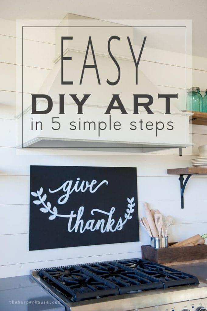 make this Easy DIY Art for less than $10 bucks!