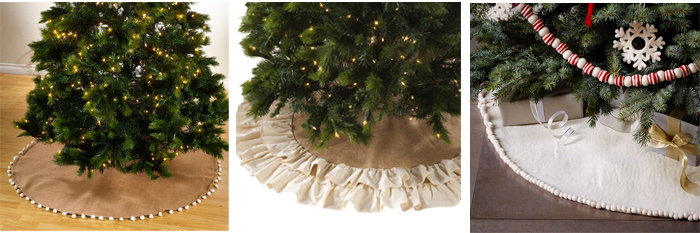 tree skirts to give you that farmhouse Christmas look