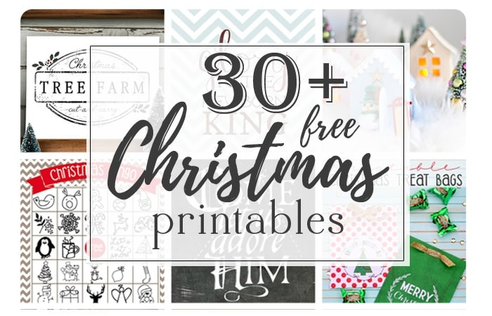 Epic collection of over 30 free Christmas printables to get you ready for the holidays! Gift tags, art prints, treat bags, and lots more. All free and super cute :) www.theharperhouse.com
