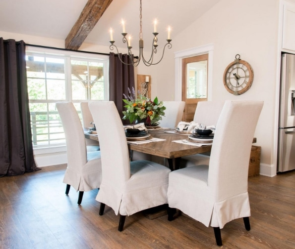 Fixer Upper Cargo Ship House - dining room details