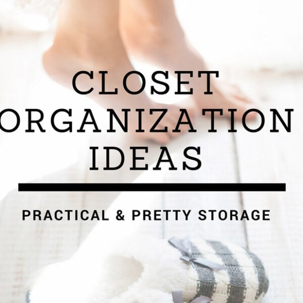 Closet organization ideas and pretty, practical storage | www.theharperhouse.com