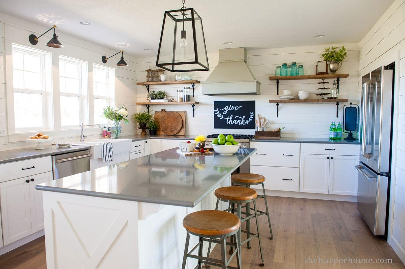 our farmhouse kitchen reveal | The Harper House on shaker homes, shaker cottage kitchen, shaker transitional kitchen, shaker barn, shaker contemporary kitchen, shaker living room, shaker bedroom, shaker dining room, shaker traditional kitchen,