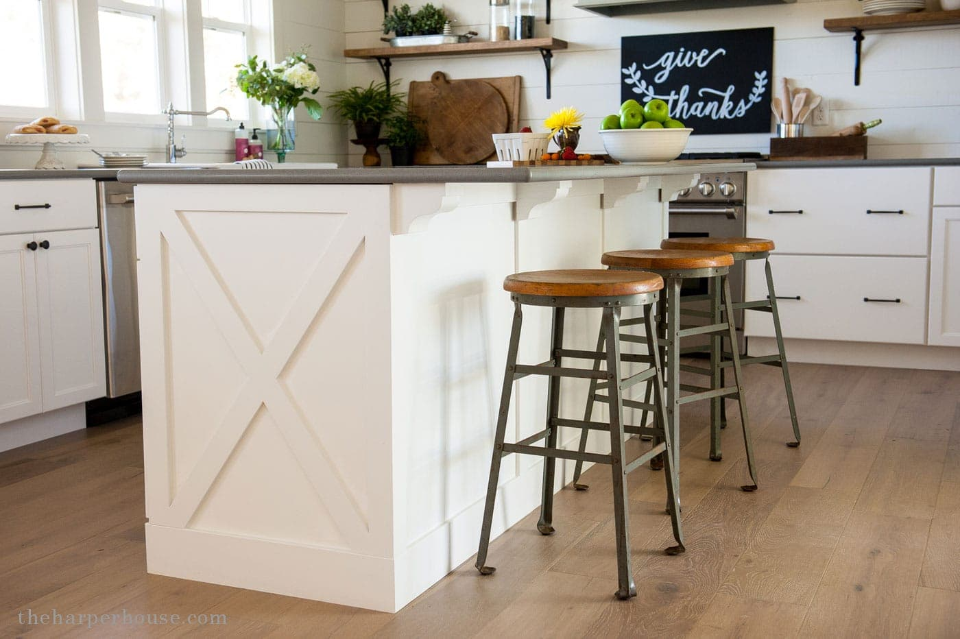 Diy Kitchen Cabinet X Style Detail From Our Fixer Upper Farmhouse Kitchen  Reveal | Www.