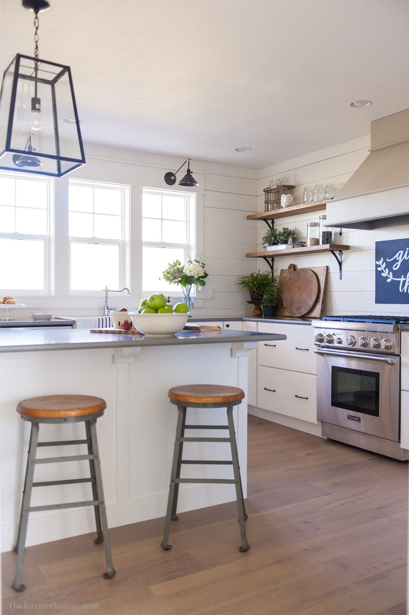 Farmhouse style kitchen details the harper house - Farmhouse style kitchen cabinets ...