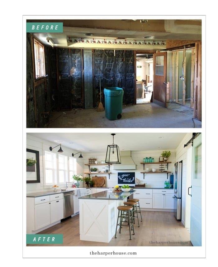10 Fixer Upper Modern Farmhouse White Kitchen Ideas: Our Farmhouse Kitchen Reveal