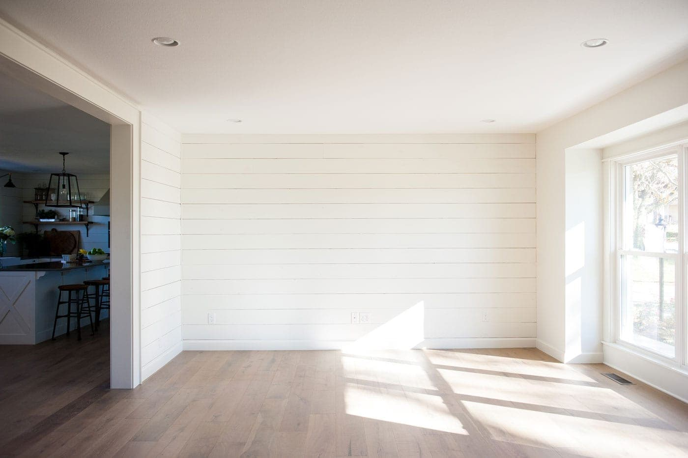 White paint colors 5 favorites for shiplap the harper house for Sherwin williams ceiling paint colors