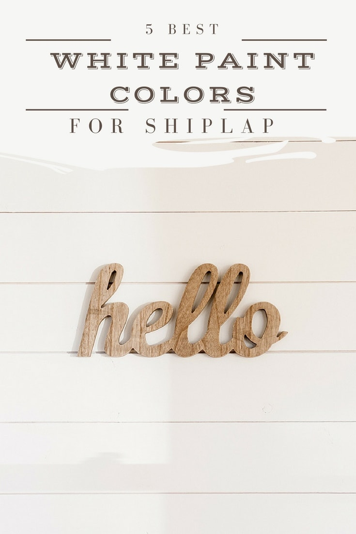 White Paint Colors White Paint Colors 5 Favorites For Shiplap  The Harper House