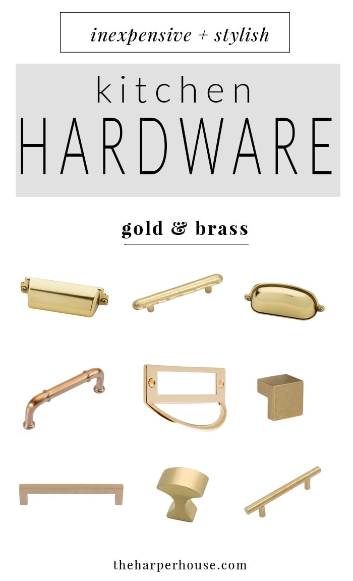 where to buy affordable kitchen hardware knobs and pulls, farmhouse style kitchen cabinet hardware for cheap, cheap gold and brass cabinet pulls & knobs, | theharperhouse.com
