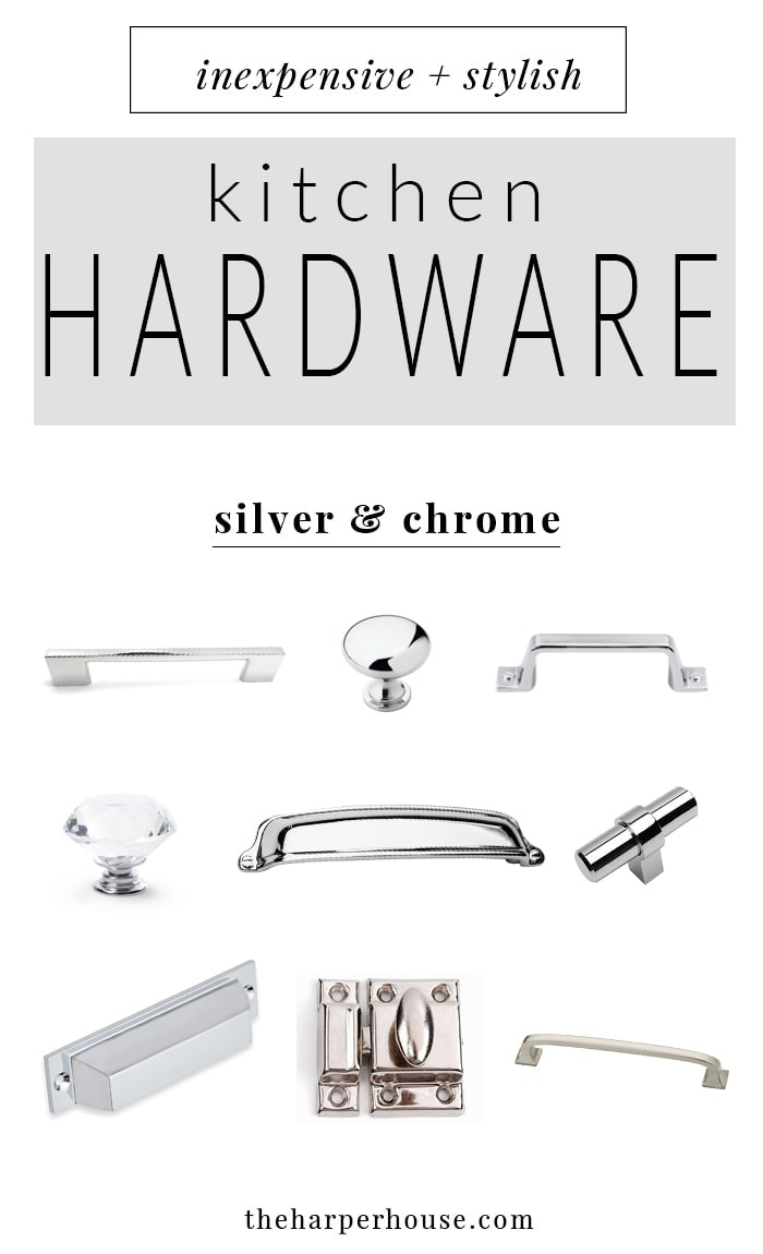 where to buy affordable kitchen hardware knobs and pulls, farmhouse style kitchen cabinet hardware for cheap, cheap chrome and silver cabinet pulls & knobs, | theharperhouse.com