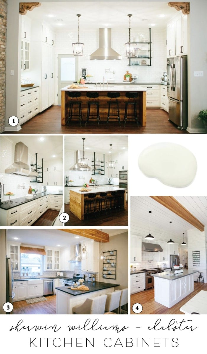 Alabaster White Kitchen Cabinets Best Paint For Cabinets Joannas Favorite Kitchen Cabinet Paint