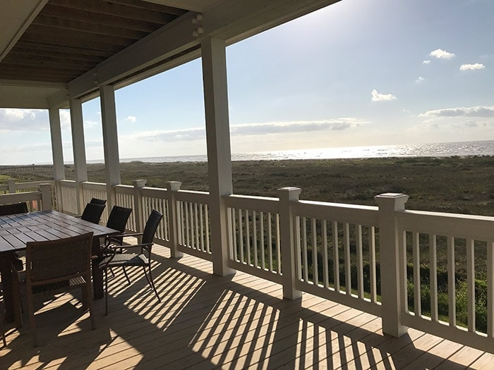 Galveston TX - view from our back deck