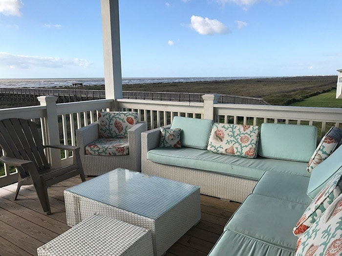 comfy outdoor lounging space - Galveston, TX