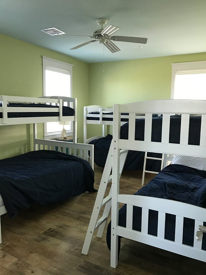 coastal beach house bunk room
