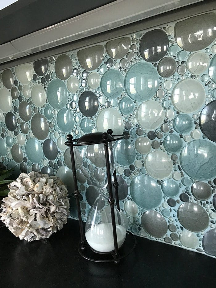 amazing glass bubble backsplash