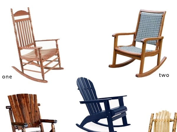Add curb appeal to your front porch with these affordable porch rocking chairs! Easy outdoor decorating ideas | theharperhouse.com
