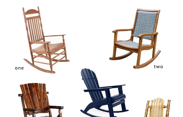 Add Curb Appeal To Your Front Porch With These Affordable Porch Rocking  Chairs! Easy Outdoor