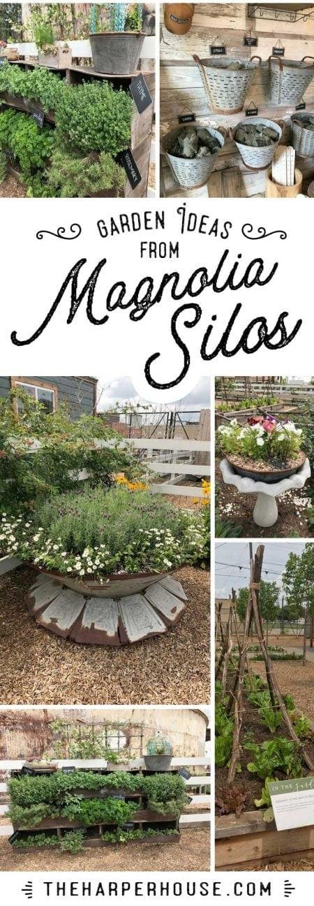Our trip to the Magnolia Silos. Sharing cute outdoor gardening ideas I found at Magnolia Market. Raised beds, vegetable gardening ideas, outdoor flower garden, herb gardening, Fixer Upper
