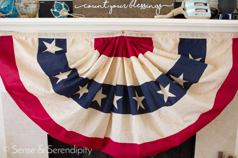 Make this diy vintage flag bunting with just a couple pots of coffee and some creativity! Full tutorial at theharperhouse.com