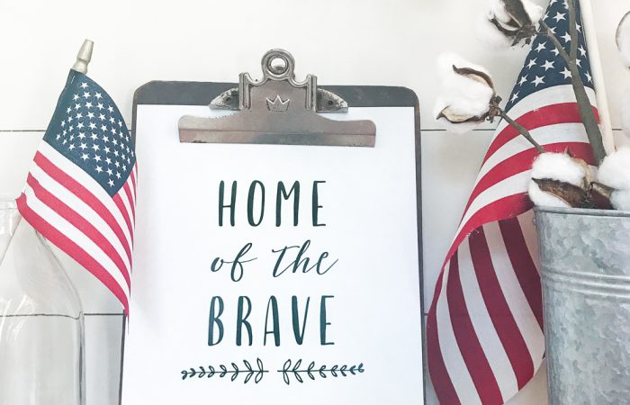Patriotic Free Printable – Home of the Brave