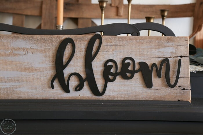 Metal script and barn wood sign is perfect for the modern farmhouse.