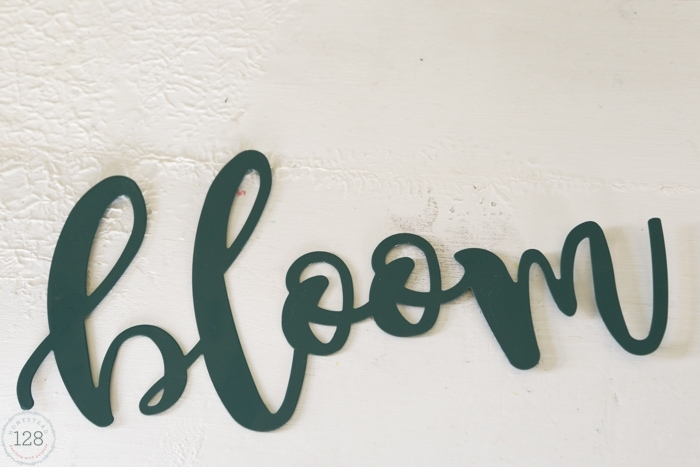 Inexpensive script lettering can be found at craft stores and dollar spots.