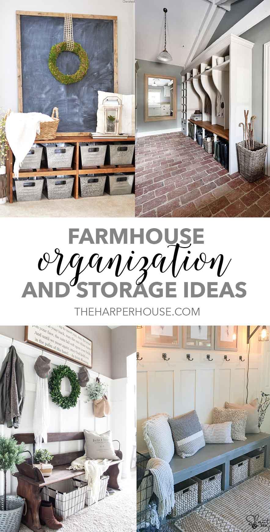 Farmhouse Storage and Organization Ideas