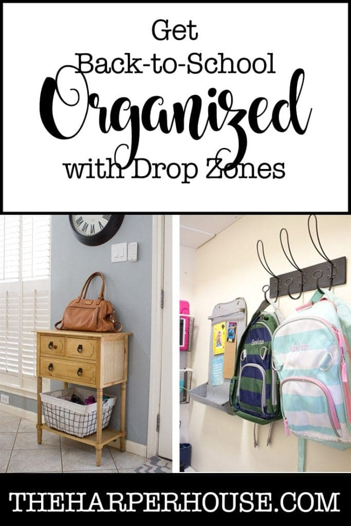 Get your home organized for back to school with these simple drop zone ideas for busy families.
