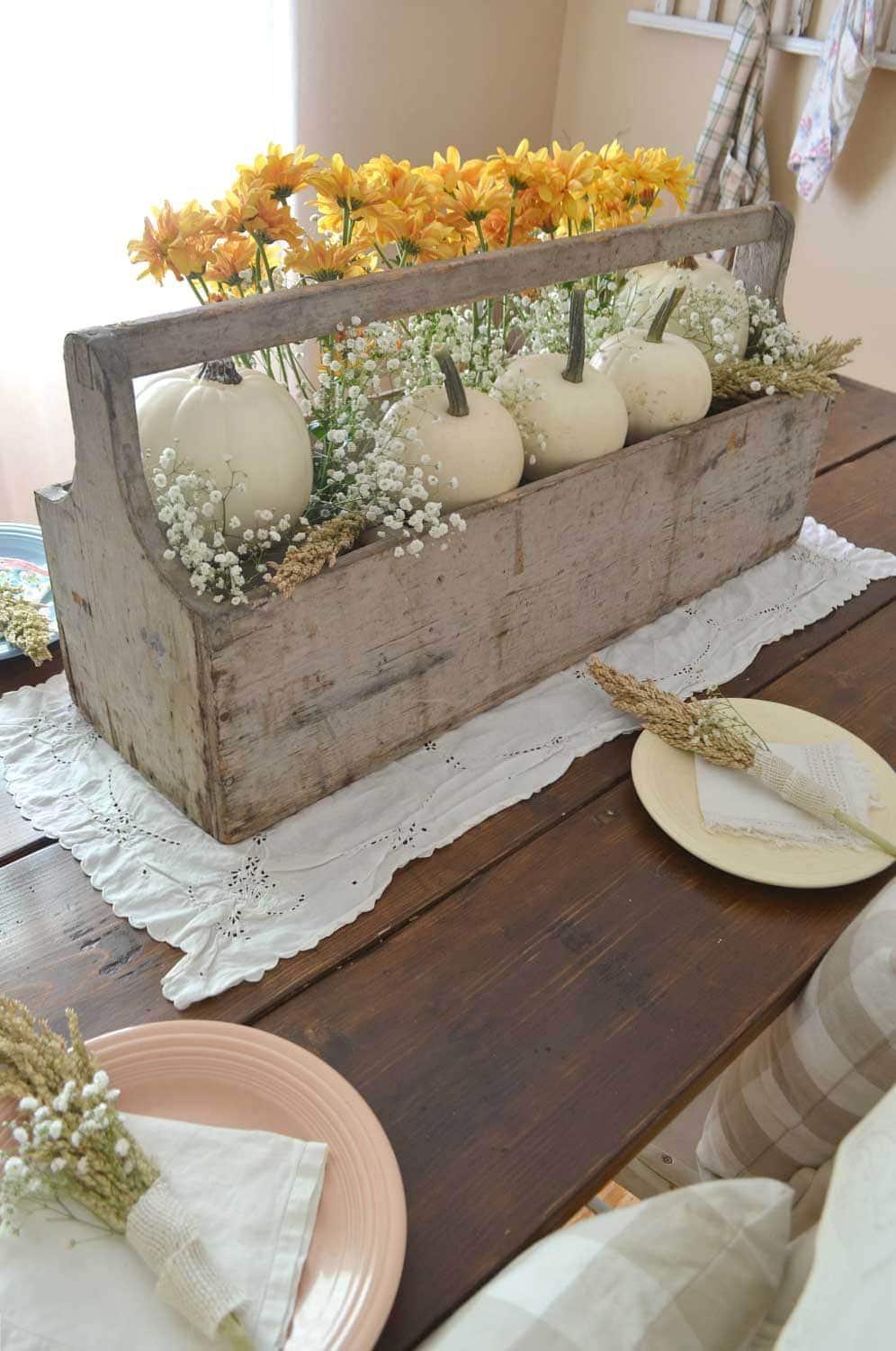 Farmhouse fall table centerpieces the harper house