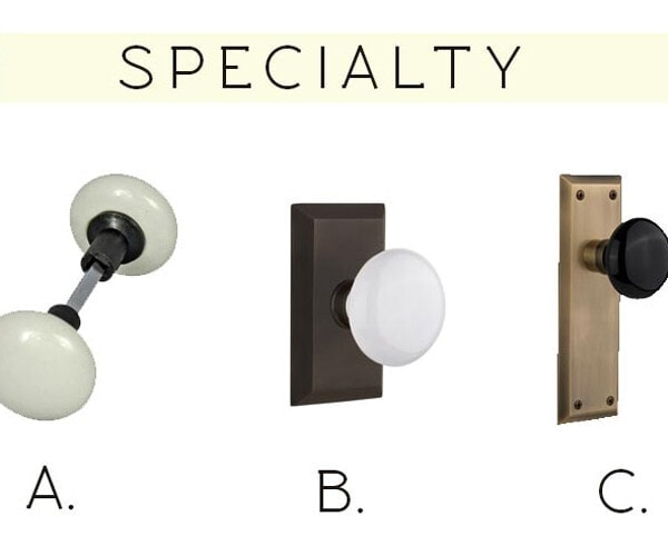 easy to follow guide for choosing cohesive door hardware for your whole house. Budget friend and modern farmhouse approved!
